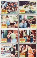 """Movie Posters:Crime, Miami Expose & Other Lot (Columbia, 1956). Lobby Card Sets of 8 (2 Sets) (11"""" X 14""""). Crime.. ... (Total: 16 Items)"""