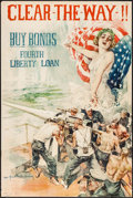 """Movie Posters:War, World War I Propaganda Poster (U.S. Government Printing Office,1918). Bond Poster (20"""" X 30"""") """"Clear the Way!"""" Howard Chand..."""