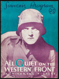 "Movie Posters:Academy Award Winners, All Quiet on the Western Front (Universal, 1930). Souvenir Program(18 Pages, 9"" X 12""). Academy Award Winners.. ..."