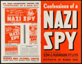 """Movie Posters:Drama, Confessions of a Nazi Spy (Warner Brothers, 1939). Folded, Fine-. Cut British Pressbook (6 Pages, 11"""" X 17""""). Drama.. ..."""