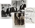 Football Collectibles:Publications, 1969 Vince Lombardi Signed Banquet Program and Wire Photographs from the Event - Last Wisconsin Appearance before Heading to W...
