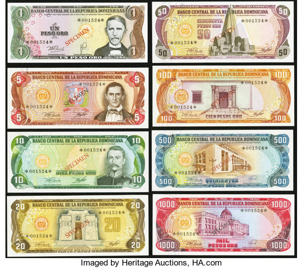 World Currency Dominican Republic Banco Central 1 5 10 20 50