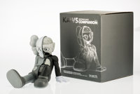KAWS (American, b. 1974) Companion (Resting Place) (Grey), 2013 Painted cast vinyl 9-1/4 x 6-1/4
