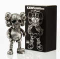 Fine Art - Sculpture, American:Contemporary (1950 to present), KAWS X Pushead. Companion (Silver), 2005. Painted castvinyl. 10-1/2 x 5-1/2 x 3-1/2 inches (26.7 x 14 x 8.9 cm).Stampe...