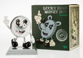 Fine Art - Sculpture, American:Contemporary (1950 to present), Jeremyville. Lucky Dime Money Box, circa 2015. Painted cast vinyl. 10 x 8-1/4 x 8-1/4 inches (25.4 x 21 x 21 cm). Stampe...