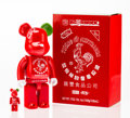 Fine Art - Sculpture, American:Contemporary (1950 to present), BE@RBRICK X BAIT X Huy Fong Foods. Sriracha 400% and100% (two works), 2015. Painted cast resin. 10-3/4 x 5-1/4 x3 ...