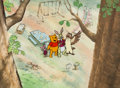 Animation Art:Production Cel, Winnie the Pooh Educational Production Cel and MasterPainted Background (Walt Disney, c. 1970s-80s)....