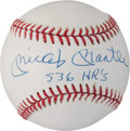 """Baseball Collectibles:Balls, Early 1990's Mickey Mantle """"536 HRs"""" Single Signed Baseball.. ..."""