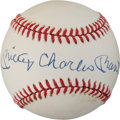 Baseball Collectibles:Balls, 1980's Mickey Charles Mantle Single Signed Baseball.. ...