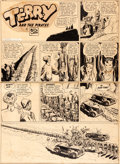 Original Comic Art:Comic Strip Art, Milton Caniff Terry and the Pirates Sunday Comic StripDragon Lady Original Art dated 10-15-39 (News Syndicate Co....