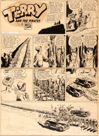 Milton Caniff Terry and the Pirates Sunday Comic Strip Dragon Lady Original Art dated 10-15-39 (News Syndicate Co