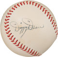 Autographs:Baseballs, 1948-50 Dizzy Dean Single Signed Baseball, PSA/DNA NM+ 7.5....