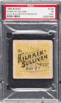 Boxing Collectibles:Memorabilia, 1889 John L. Sullivan vs. Jake Kilrain Ticket Stub, PSA PR 1 (MK)--The Only PSA-Graded Example!. ...
