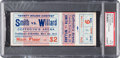 "Boxing Collectibles:Memorabilia, 1913 Edward ""Gunboat"" Smith vs. Jess Willard Full Ticket, PSA VG-EX 4.. ..."
