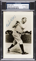 Baseball Collectibles:Photos, 1948 Babe Ruth Signed Real Photograph Postcard, PSA Authentic. . ...