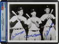 Baseball Collectibles:Photos, 1990's DiMaggio, Mantle & Williams Multi-Signed Photograph,PSA/DNA Gem Mint 10.. ...