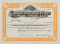Baseball Collectibles:Others, 1948 Branch Rickey Signed Brooklyn Dodgers Stock Certificate. . ...