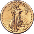 High Relief Double Eagles, 1907 $20 High Relief, Wire Rim AU58 PCGS Secure....