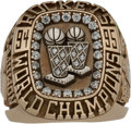 Basketball Collectibles:Others, 1994-95 Hakeem Olajuwon Houston Rockets NBA Championship Salesman's Sample Ring....