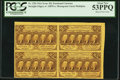 Fractional Currency:First Issue, Fr. 1281 25¢ First Issue Block of Four Notes PCGS About New 53PPQ.. ...