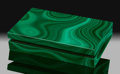 Lapidary Art:Boxes, Malachite Box. Stone Source: Katanga Copper Crescent.Katanga (Shaba). Democratic Republic of Congo(Zaïre). ...
