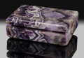 Lapidary Art:Boxes, Chevron Amethyst Box. Stone Source: Rio Grande do Sul, Brazil. ...