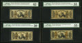 Four Third Issue 50¢ Justice Notes PMG Graded