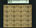 Fractional Currency:Third Issue, Fr. 1227 3¢ Third Issue Partial Sheet of Twenty PCGS Very Fine 30.. ...