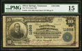 National Bank Notes:Tennessee, Oliver Springs, TN - $10 1902 Plain Back Fr. 634 The Tri-County NBCh. # 11998. ...