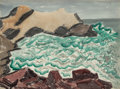 Works on Paper, Milton Avery (American, 1885-1965). Churning Bay, 1945. Watercolor on paper. 22 x 29-3/4 inches (55.9 x 75.6 cm) (sight)...