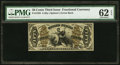 Fractional Currency:Third Issue, Fr. 1358 50¢ Third Issue Justice PMG Uncirculated 62 EPQ.. ...