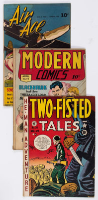 Comic Books - Assorted Golden Age War Comics Group of 15 (Various Publishers, 1941-53) Condition: Average VG.... (Total:...