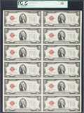 Small Size:Legal Tender Notes, Fr. 1504 $2 1928C Legal Tender Notes. Uncut Sheet of Twelve. PCGS Choice About New 58.. ...