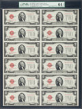 Small Size:Legal Tender Notes, Fr. 1504 $2 1928C Legal Tender Notes. Uncut Sheets of Twelve. PMG Choice Uncirculated 64 EPQ.. ...