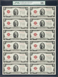 Small Size:Legal Tender Notes, Fr. 1508 $2 1928G Legal Tender Notes. Uncut Sheet of 12. PMG Choice About Unc 58 EPQ.. ...