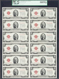 Small Size:Legal Tender Notes, Fr. 1508 $2 1928G Legal Tender Notes. Uncut Sheet of Twelve. PCGS Choice About New 58PPQ.. ...