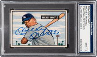 1951 Bowman Mickey Mantle Rookie #253, Signed, PSA/DNA Mint 9