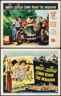 """Movie Posters:Comedy, Comin' Round the Mountain (Universal International, 1951). Title Lobby Card & Lobby Card (11"""" X 14""""). Comedy.. ... (Total: 2 Items)"""
