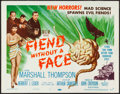 "Movie Posters:Science Fiction, Fiend without a Face (MGM, 1958). Title Lobby Card (11"" X 14"").Science Fiction.. ..."