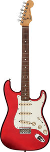 Musical Instruments:Electric Guitars, 1988 Fender Stratocaster Candy Apple Red Solid Body ElectricGuitar, Serial # E847879....