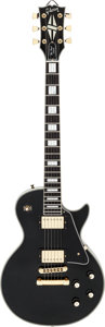 Musical Instruments:Electric Guitars, 1979 Gibson Les Paul Custom Black Solid Body Electric Guitar, Serial # 70319111....