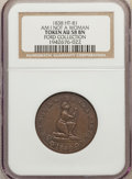 Hard Times Tokens, 1838 Am I Not a Woman & a Sister, HT-81, AU58 NGC. Ex: Ford Collection....