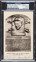 Baseball Collectibles:Others, 1956-63 Ed Walsh Twice Signed Artvue Black and White Hall of Fame Plaque Postcard. ...