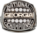 Football Collectibles:Others, 1980 Georgia Bulldogs National Championship Salesman's Sample Ring. ...