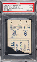 Football Collectibles:Tickets, 1934 Chicago Bears vs. College All Stars Ticket Stub - Inaugural College All Star Game!...