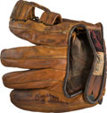 Baseball Collectibles:Others, 1929 Willis Hudlin Fielder's Glove Worn as He Pitched Babe Ruth's 500th Home Run. . ...