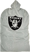 Football Collectibles:Uniforms, Late 1980's Los Angeles Raiders Game Worn Sideline Coat Attributed to Tim Brown....