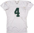 Football Collectibles:Uniforms, 2001 Brett Favre Thanksgiving Day Game Issued Green Bay Packers Jersey. ...