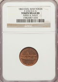 Civil War Tokens, 1863 Army & Navy Civil War Token, F-233/312 A, MS64 Red andBrown NGC. ...