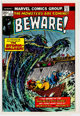 Bill Everett and Marie Severin Beware! #7 Color Cover Approval Proof (Marvel Comics, 1974)